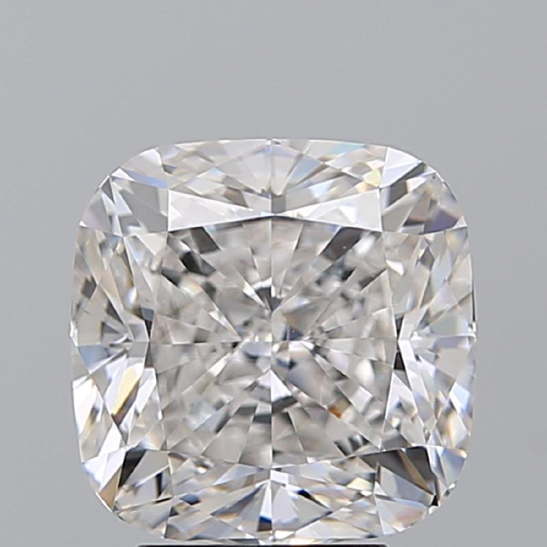 3.77 ct, Color G/VS1, Cushion cut Diamond - 2