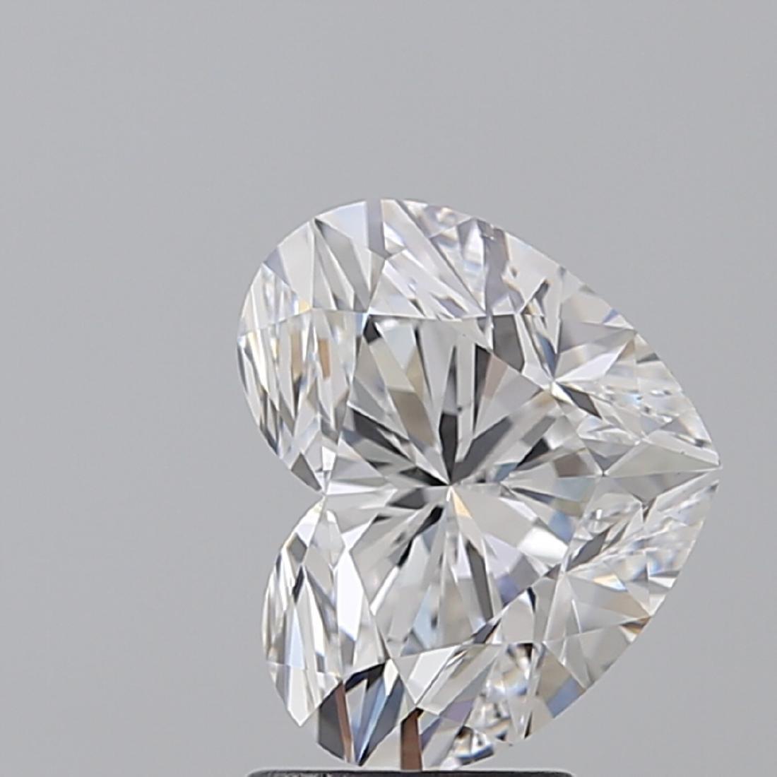 3.01 ct, Color D/VS2, Heart cut Diamond - 2