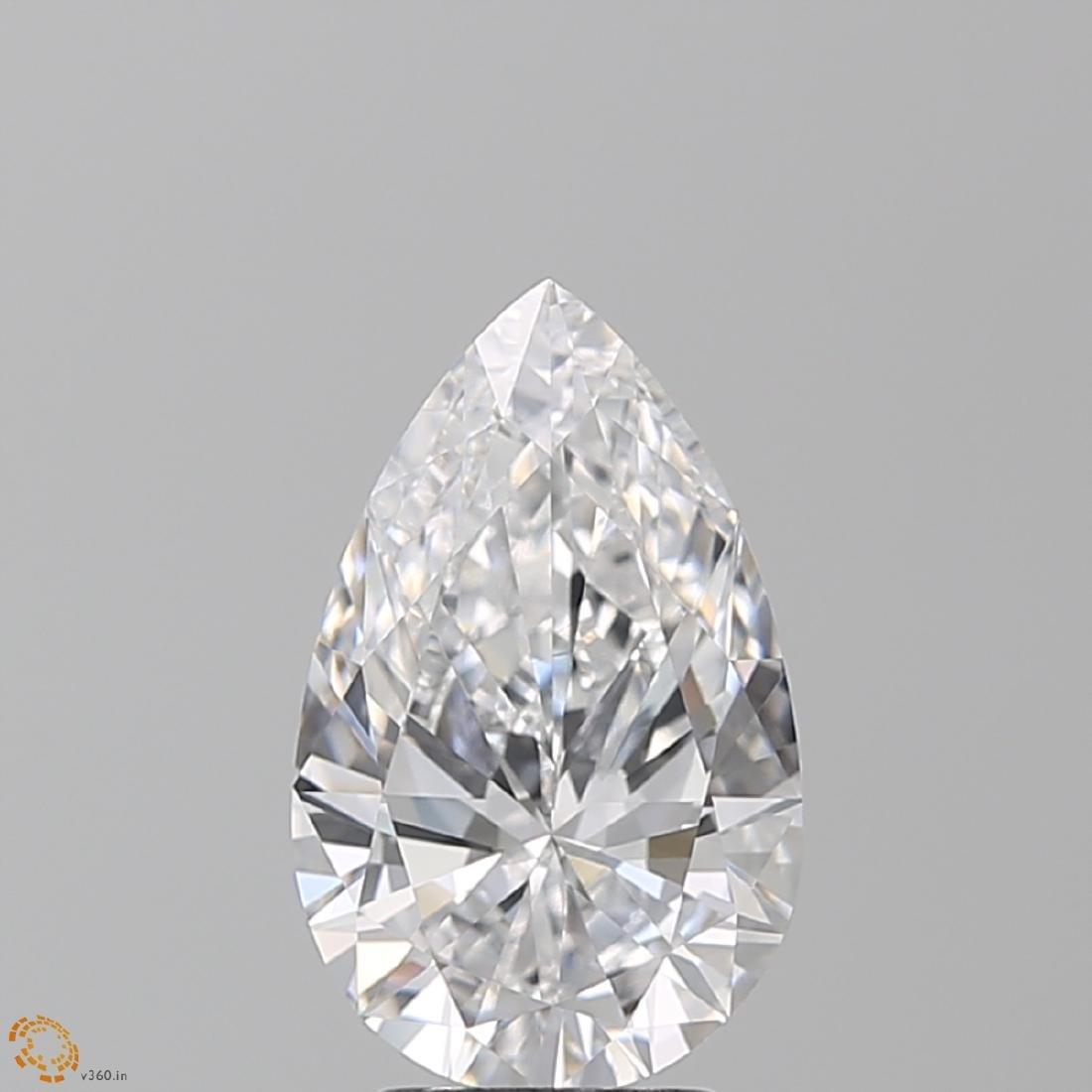 3.01 ct, Color D/VVS1, Pear cut Diamond - 2