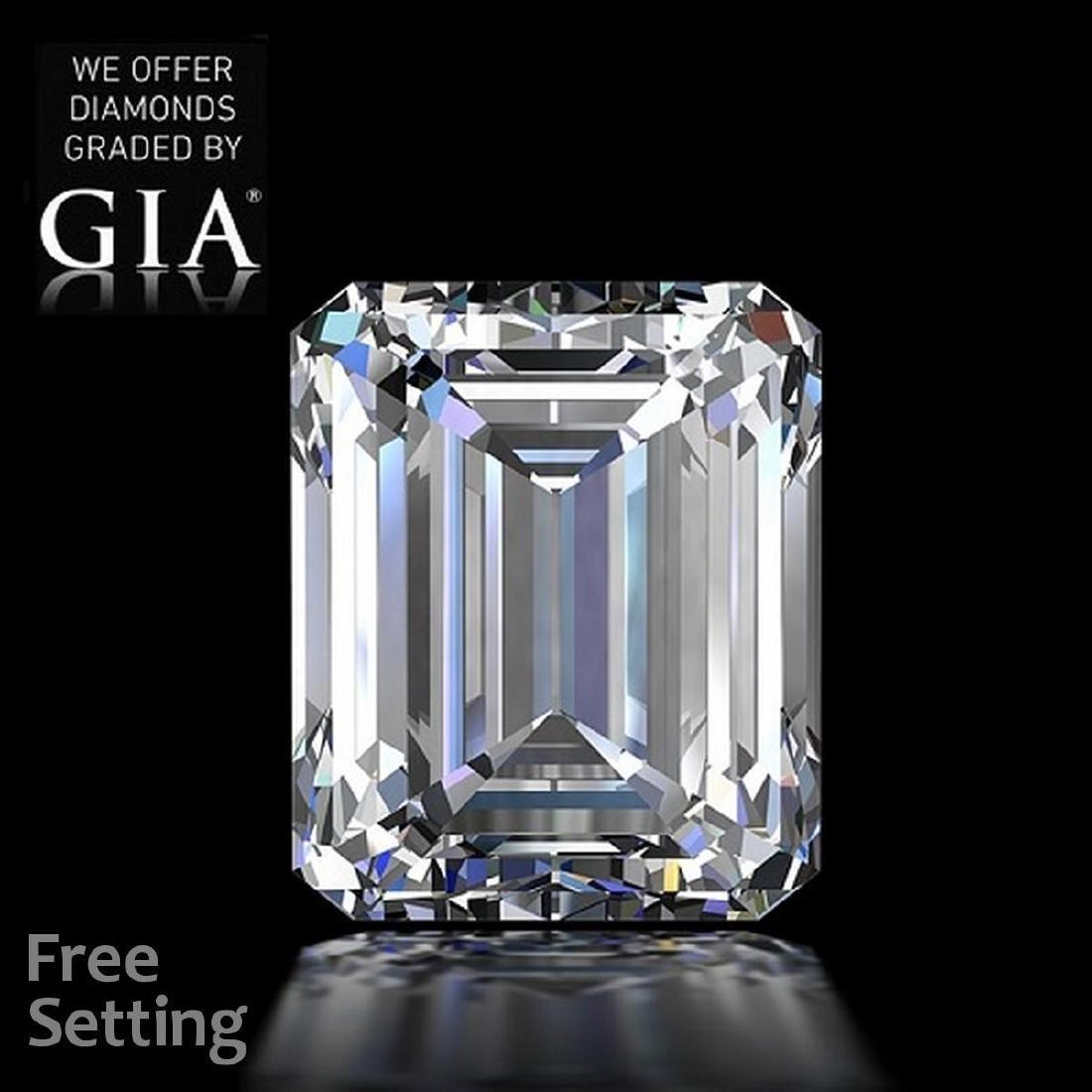 5.01 ct, Color G/VVS1, Emerald cut Diamond