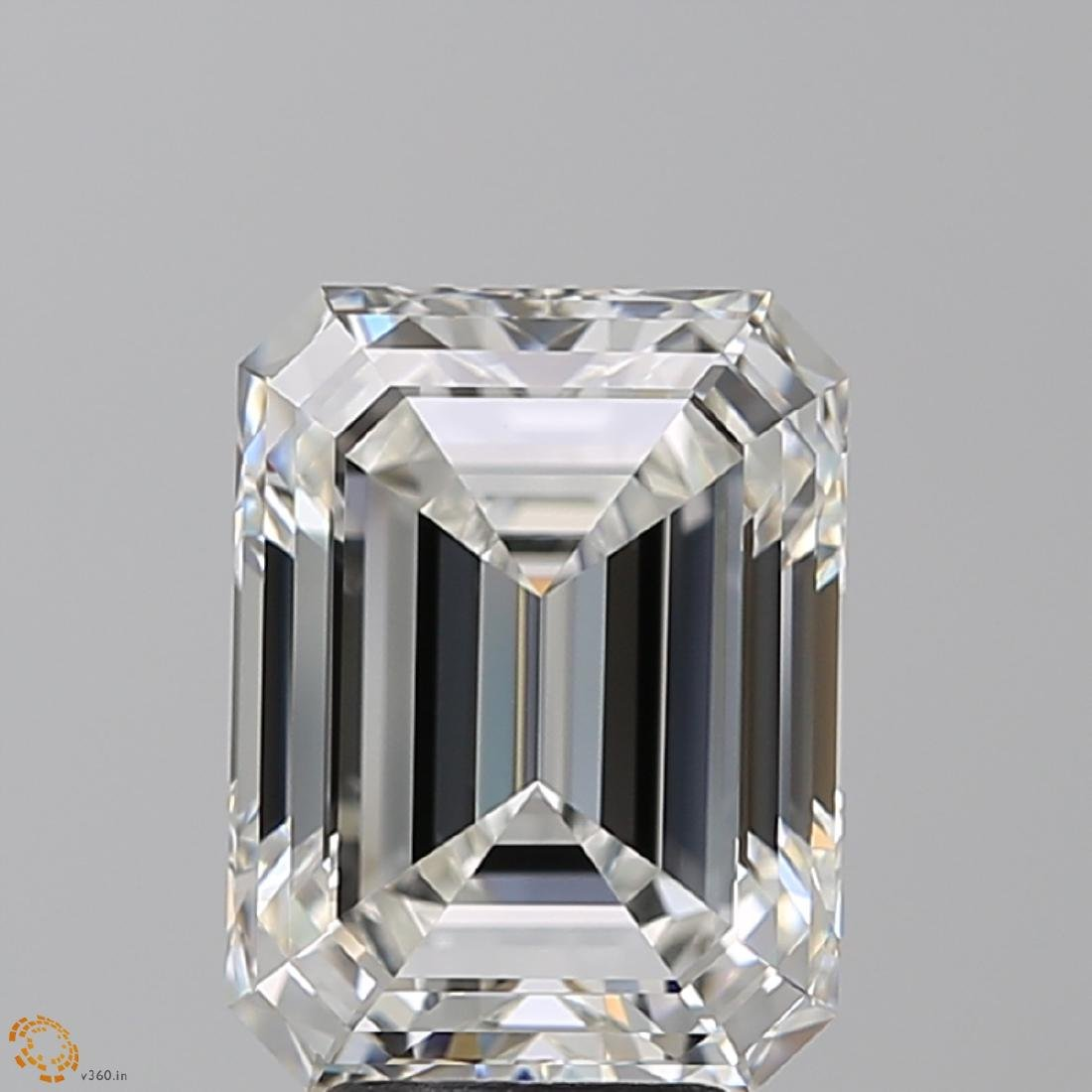5.01 ct, Color G/VVS1, Emerald cut Diamond - 2