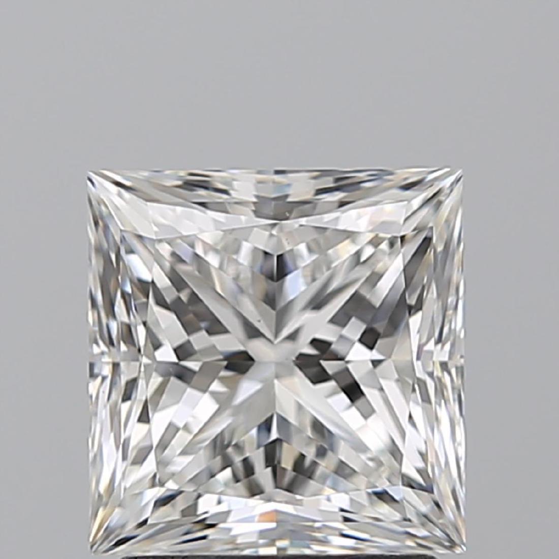 2.01 ct, Color F/VS2, Princess cut Diamond - 2
