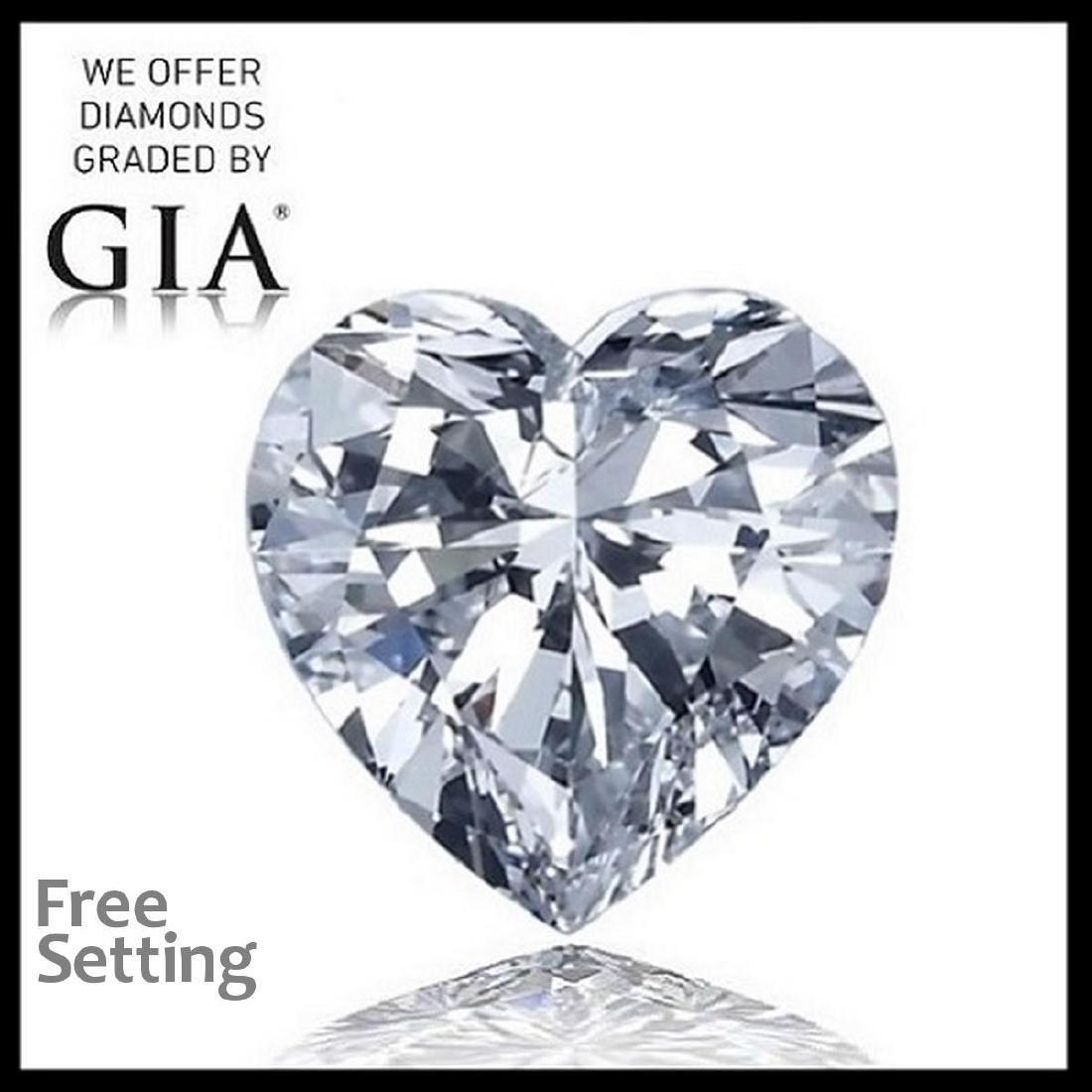 5.07 ct, Color D/VS2, Heart cut Diamond