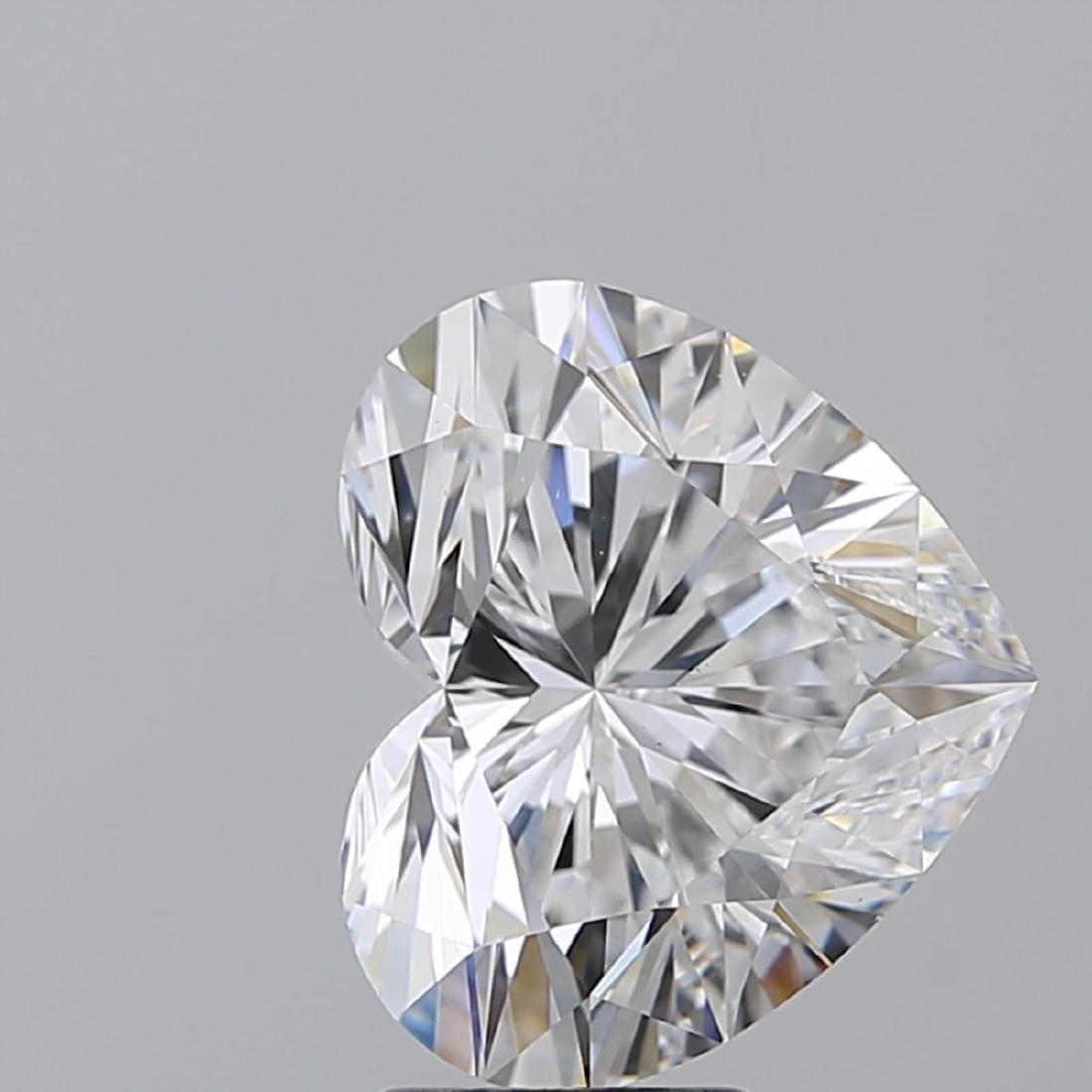 5.07 ct, Color D/VS2, Heart cut Diamond - 2