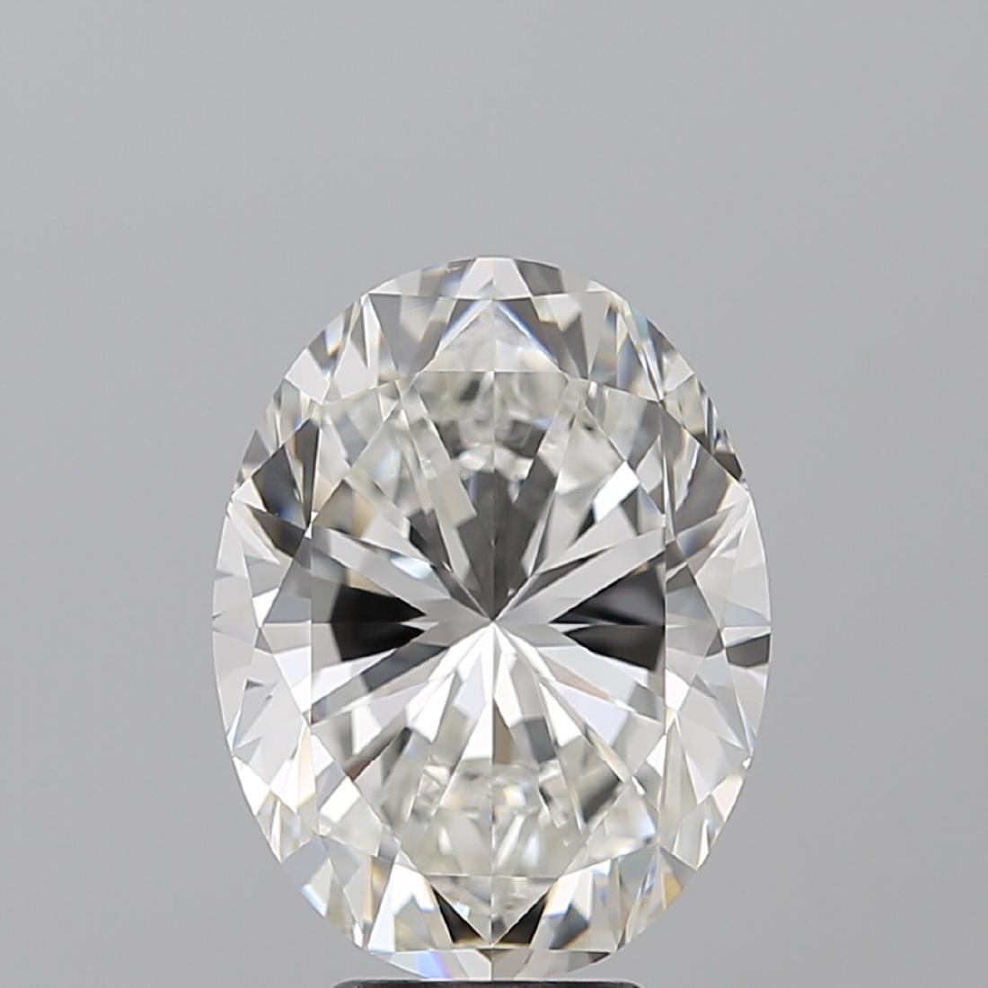 6.01 ct, Color G/VS1, Oval cut Diamond - 2