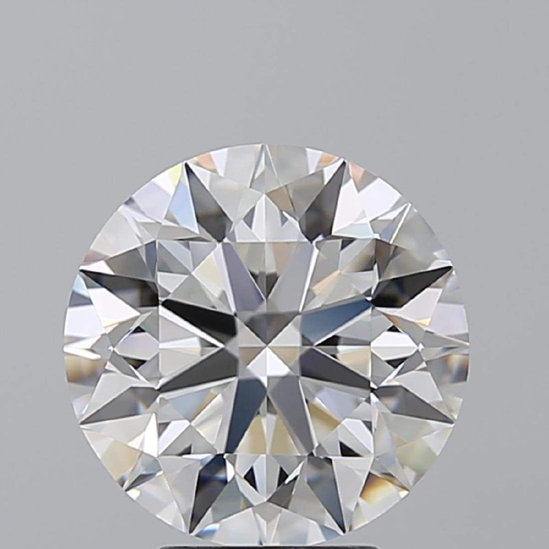 4.02 ct, Color F/VS1, Round cut Diamond - 2