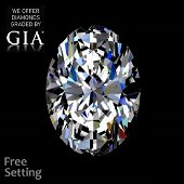 11.03 ct, Color G/VS1, Oval cut Diamond
