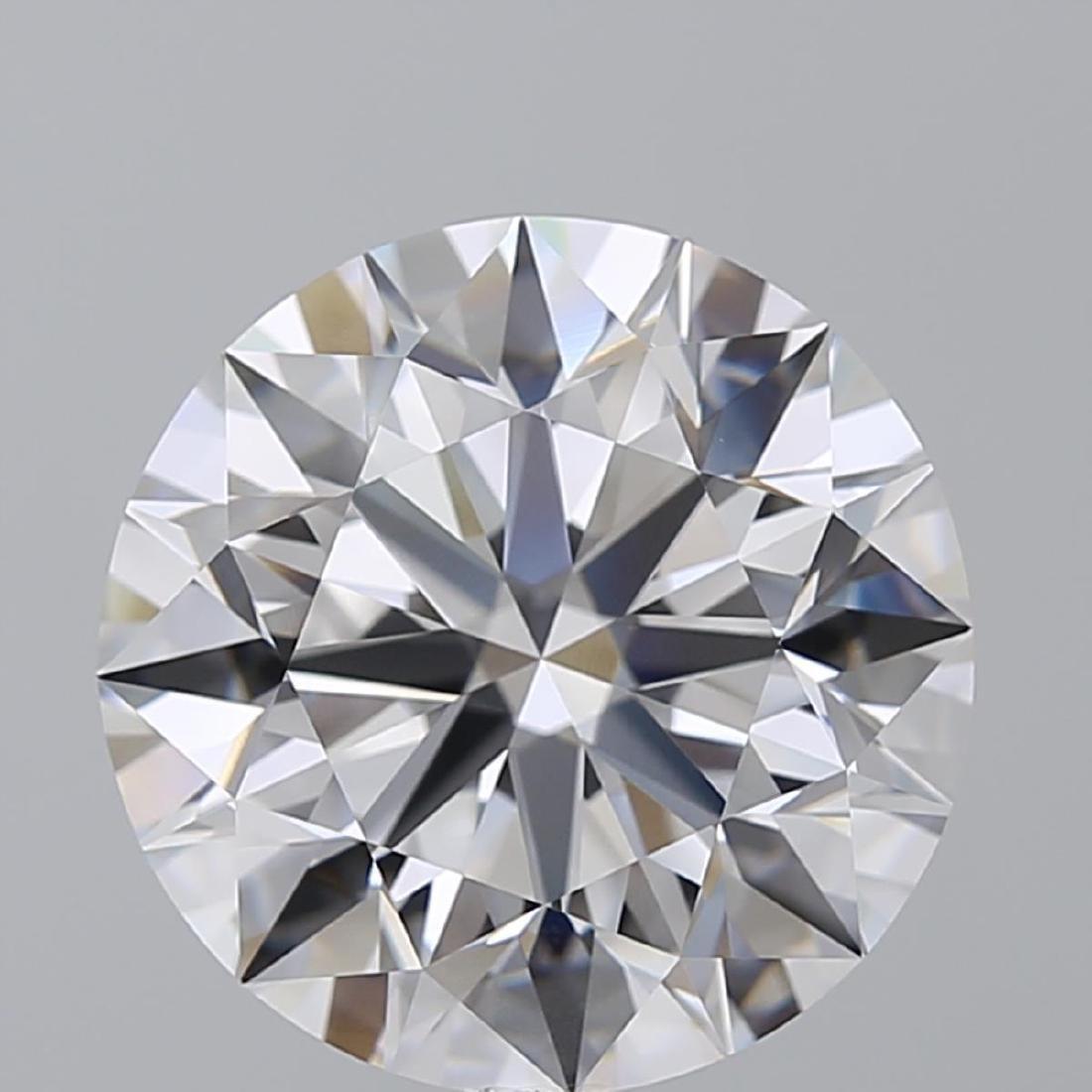 8.01 ct, Color D/FL, Round cut Diamond - 2