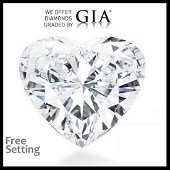 3.01 ct, Color E/VS1, Heart cut Diamond