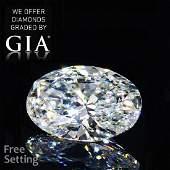 3.01 ct, Color F/VVS2, Oval cut Diamond