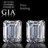 603 ct Emerald cut Diamond Pair