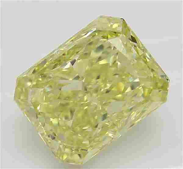 202 ct YellowVS1 Radiant cut Diamond