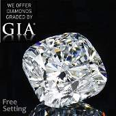 501 ct Color FVS2 Cushion cut Diamond