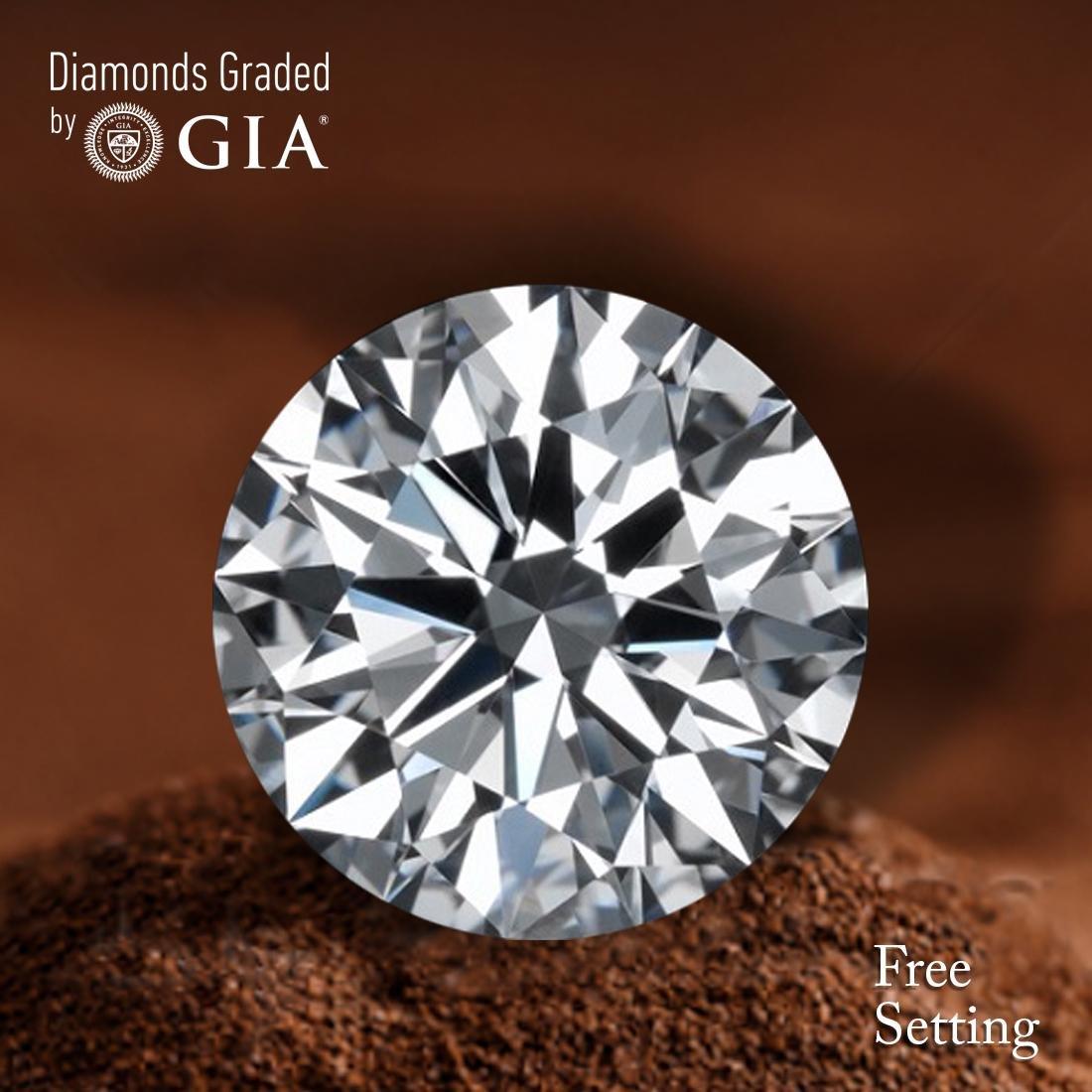 3.60 ct, Color D/VVS2, Round cut Diamond