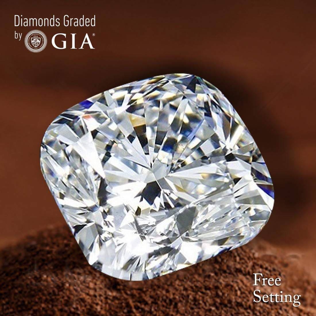 4.01 ct, Color F/VS1, Cushion cut Diamond