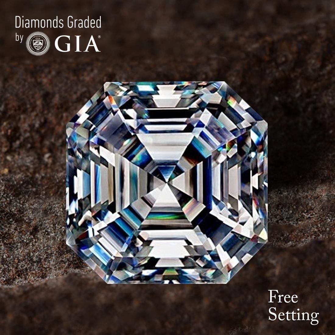5.53 ct, Color F/VS1, Sq. Emerald cut Diamond
