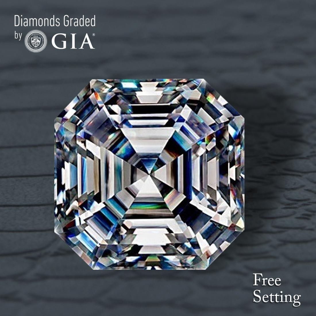 3.01 ct, Color F/VS1, Sq. Emerald cut Diamond