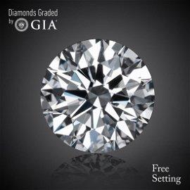 1.00 ct, Color D/VVS2, Round cut Diamond 58% Off Rap