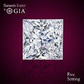 1.01 ct, Color I/VS1, Princess cut Diamond 51% Off Rap