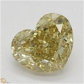 1.22 ct, Brn. Yellow/VVS1, Heart cut Diamond
