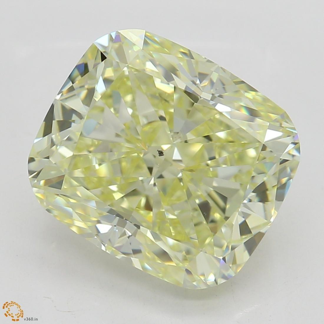 3.17 ct, Lt. Yellow/VS2, Cushion cut Diamond