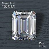 4.51 ct, Color E/VVS2, Emerald cut Diamond 50% Off Rap