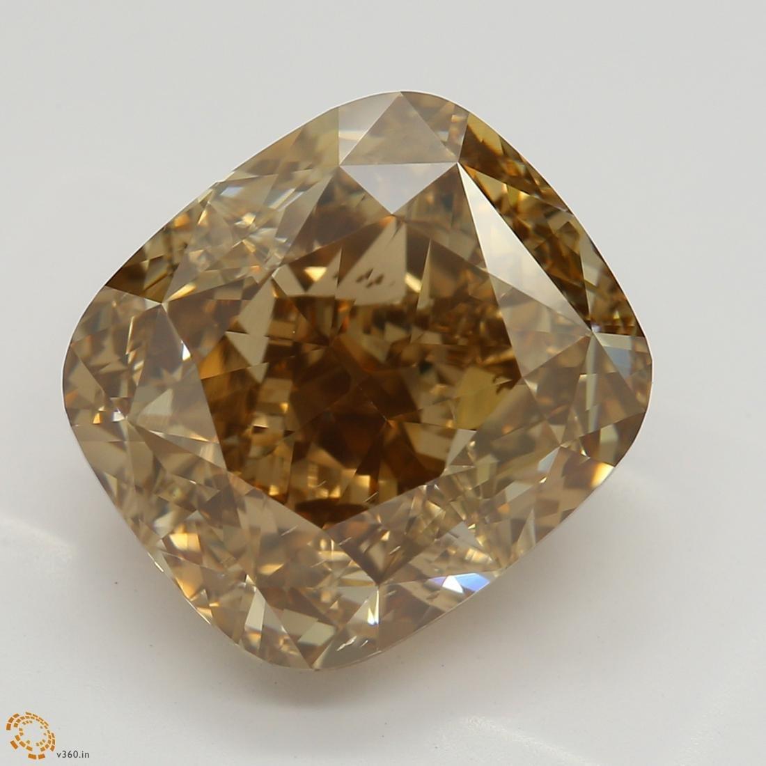 6.04 ct, Orange-Brn./VS2, Cushion cut Diamond