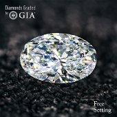 5.71 ct, Color F/VS1, Oval cut Diamond 50% Off Rap