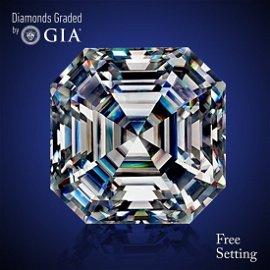 12.61 ct, Color G/VVS1, Sq. Emerald cut Diamond 71% Off