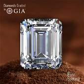 3.06 ct, Color E/VS1, Emerald cut Diamond 71% Off Rap