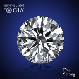 1.00 ct, Color G/VVS2, Round cut Diamond 45% Off Rap
