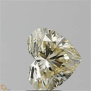 204 ct Lt Brn YellowVVS1 Heart cut Diamond