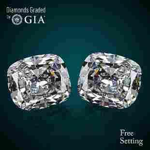 202 ct Cushion cut Diamond Pair