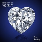 2.03 ct, Color E/VVS2, Heart cut Diamond 51 % Off Rap
