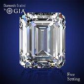 2.73 ct, Color D/VVS1, Emerald cut Diamond 60 % Off Rap