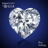4.03 ct, Color D/FL, Heart cut Diamond 51 % Off Rap