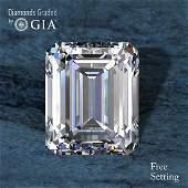 3.70 ct, Color D/VVS1, Emerald cut Diamond 64 % Off Rap