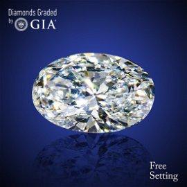 6.01 ct, Color F/VVS1, Oval cut Diamond 57 % Off Rap