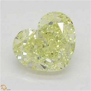 103 ct YellowVS1 Heart cut Diamond