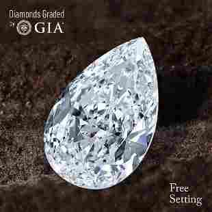 103 ct Color GVVS1 Pear cut Diamond 45 Off Rap
