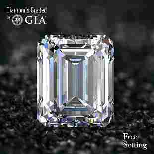 101 ct Color HVVS1 Emerald cut Diamond 54 Off Rap
