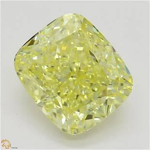 252 ct Intense YellowVS1 Cushion cut Diamond