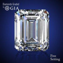 2.73 ct, Color D/VVS1, Emerald cut Diamond 60% Off Rap