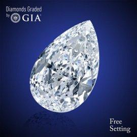 2.50 ct, Color E/VVS2, Pear cut Diamond 51% Off Rap