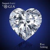 2.03 ct, Color E/VVS2, Heart cut Diamond 67% Off Rap