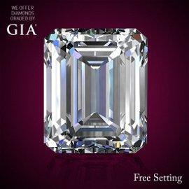 2.40 ct, Color E/VVS2, Emerald cut Diamond 46% Off Rap