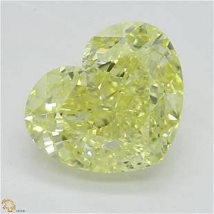 176 ct Int YellowVVS1 Heart cut Diamond