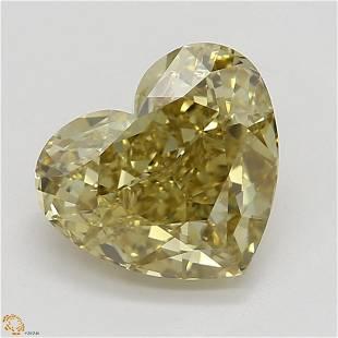 101 ct Brn YellowVVS1 Heart cut Diamond