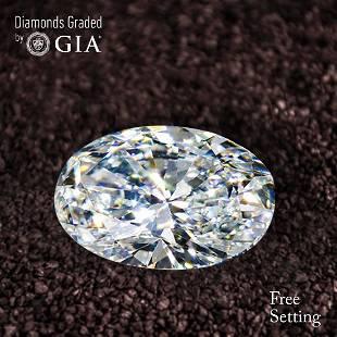 156 ct Color GVVS1 Oval cut Diamond 43 Off Rap