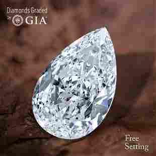 100 ct Color FVVS1 Pear cut Diamond 51 Off Rap